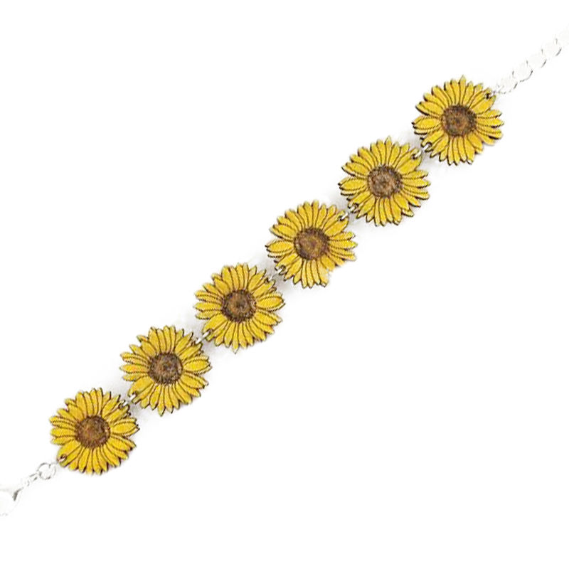 EarthHero - Sunflower Wooden Bracelet 1