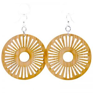 EarthHero - Tribal Sun Eco-Friendly Bamboo Earrings 1