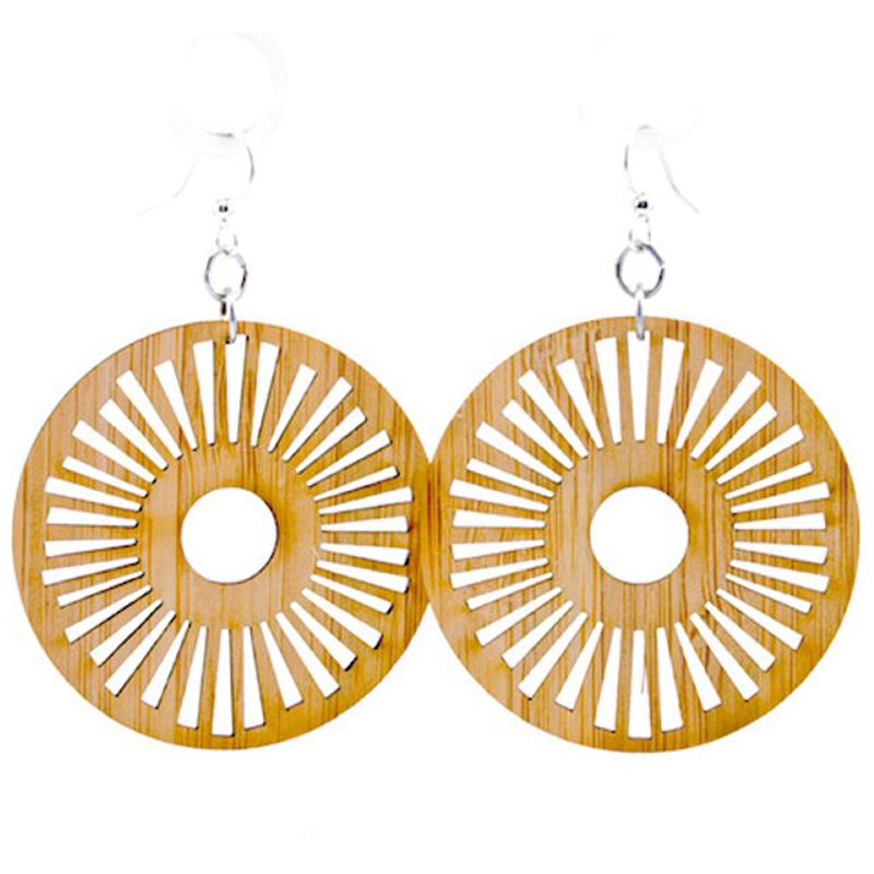 EarthHero - Tribal Sun Eco-Friendly Bamboo Earrings 1