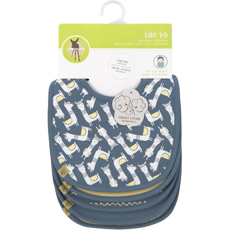 EarthHero - Glama Llama Lightweight Organic Cotton Baby Bibs - 5 pack - 4