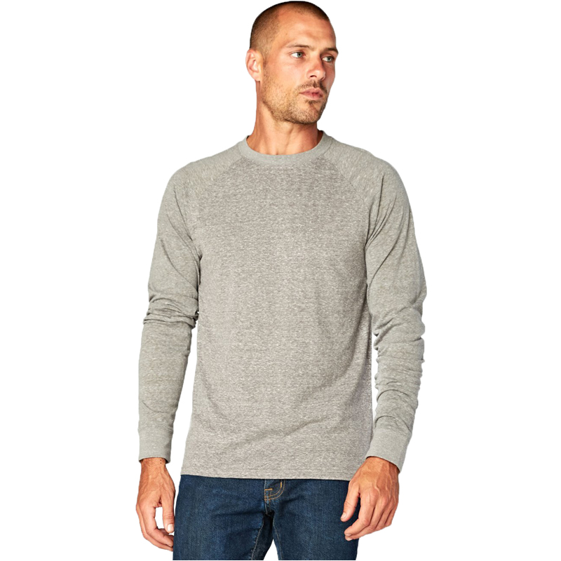 EarthHero - Men's Raglan Longsleeve Tri Blend Shirt - 1
