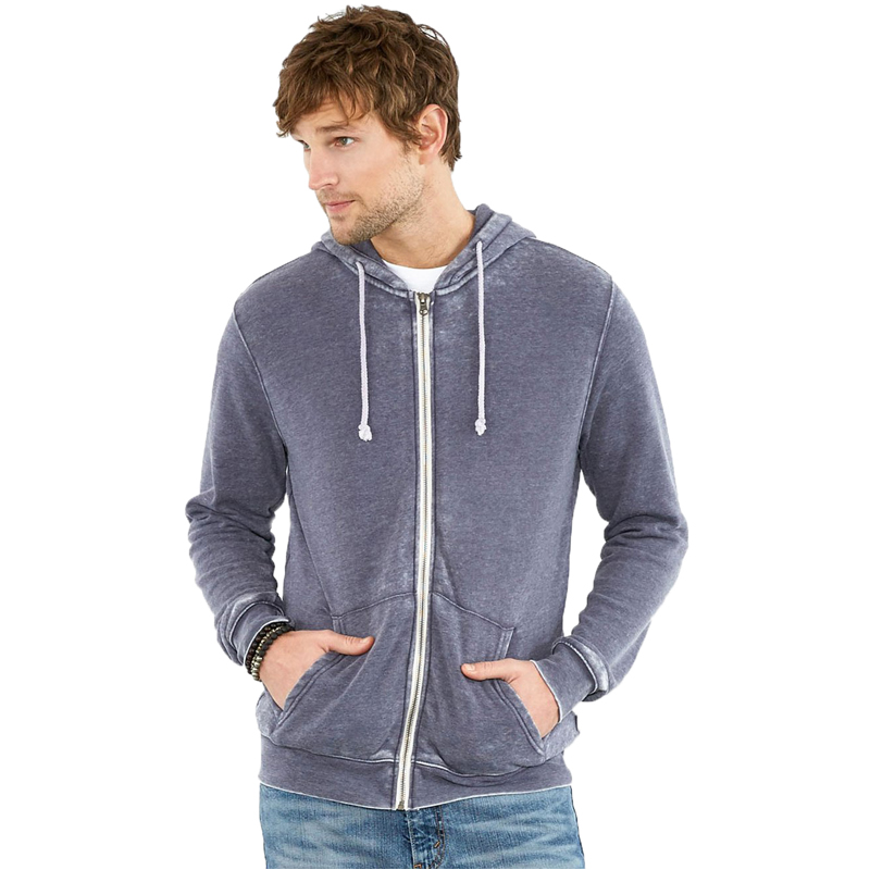 EarthHero - Men's Triblend Zip Up Fleece Hoodie - 1