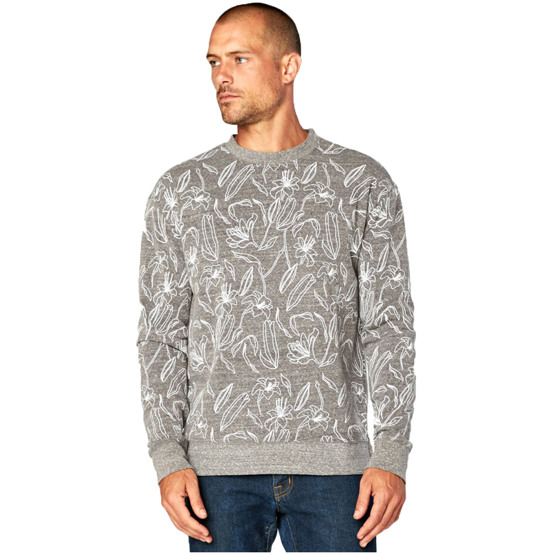 EarthHero - Men's Lily Bud Triblend Fleece Pullover - 1