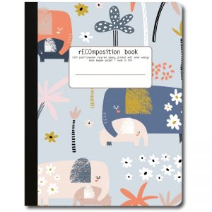 EarthHero - Blue Elephant Recycled Composition Notebook - 1