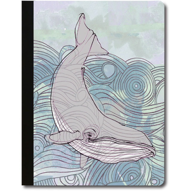 EarthHero - Deep Blue Whale Recycled Composition Notebook - 1