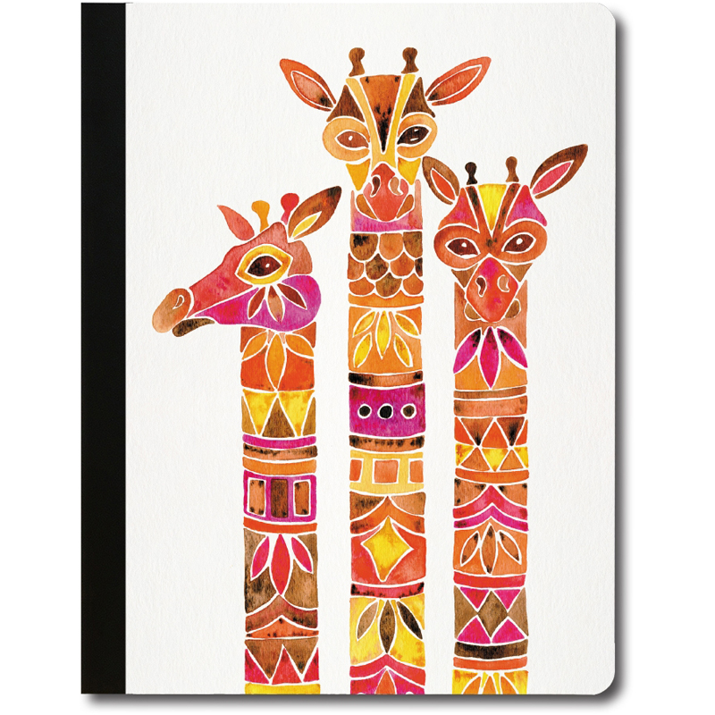 EarthHero - Giraffe Trio Recycled Composition Notebook - 1
