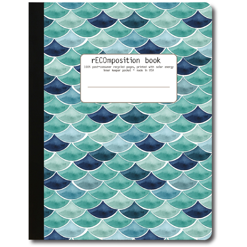 EarthHero - Mermaid Recycled Composition Notebook - 1