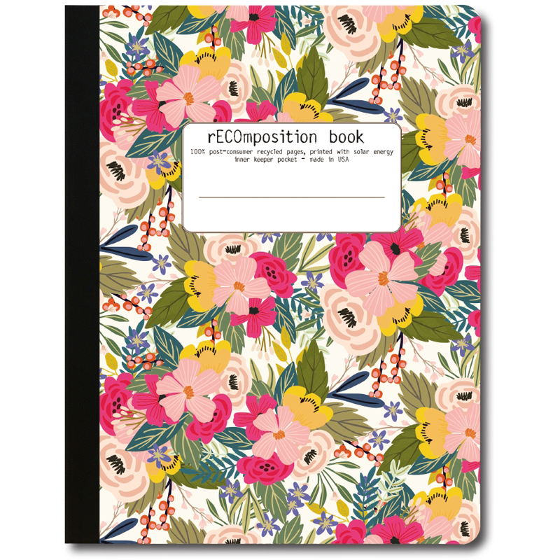 EarthHero - Pink in Bloom Recycled Composition Notebook - 1