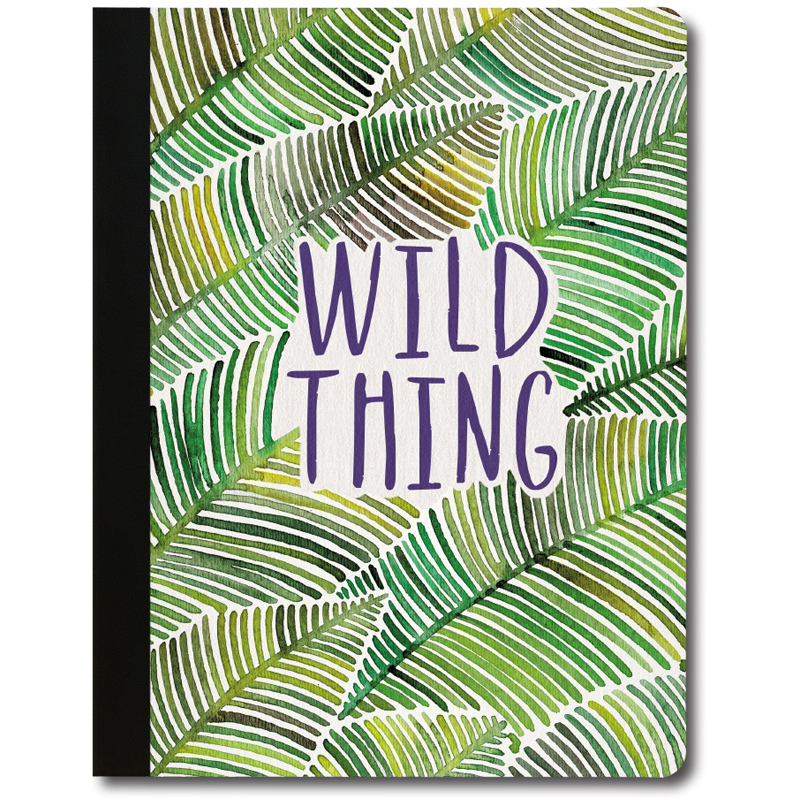 EarthHero - Wild Thing Leaves Recycled Composition Notebook - 1