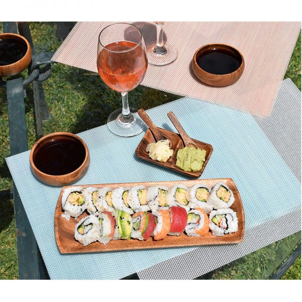 EarthHero - Oval Acacia Wood Appetizer Serving Trays - 8 piece - 3