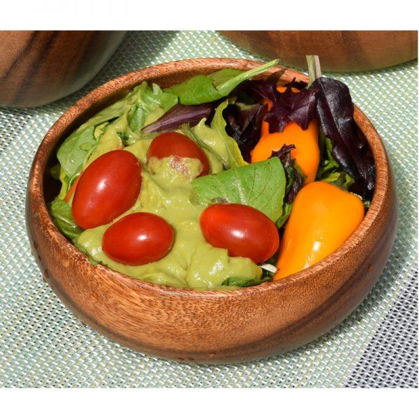 EarthHero - Round Acacia Wood Salad Bowls - 3