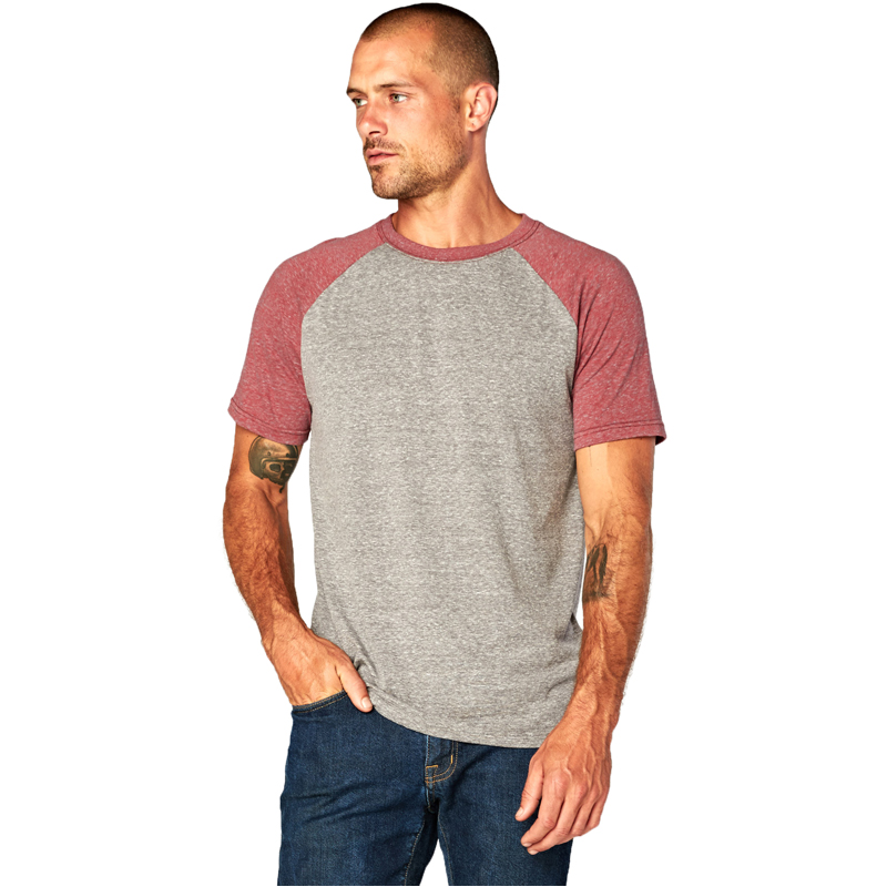 EarthHero - Men's Two-Tone Raglan Tri Blend Shirt - 1