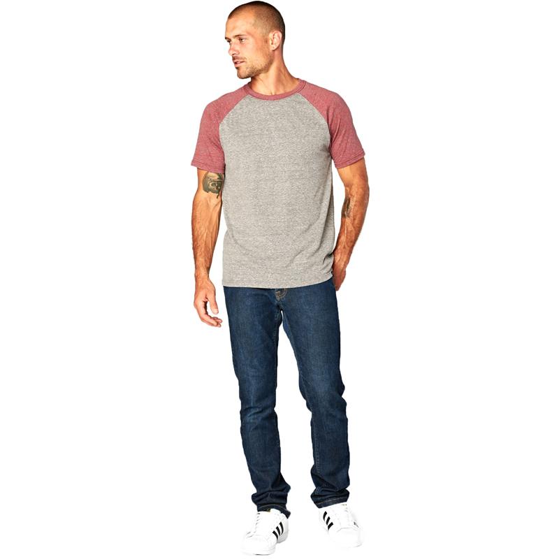 EarthHero - Men's Two-Tone Raglan Tri Blend Shirt - 4