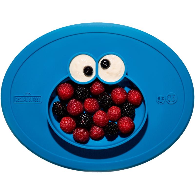 EarthHero - ezpz Sesame Street Elmo Silicone Mealtime Mat - 1