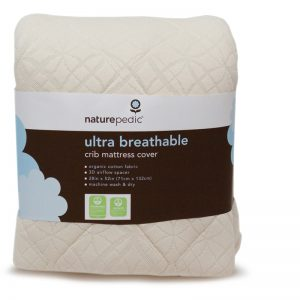 EarthHero - Organic Cotton Fitted Crib Breathable Mattress Pad - 1