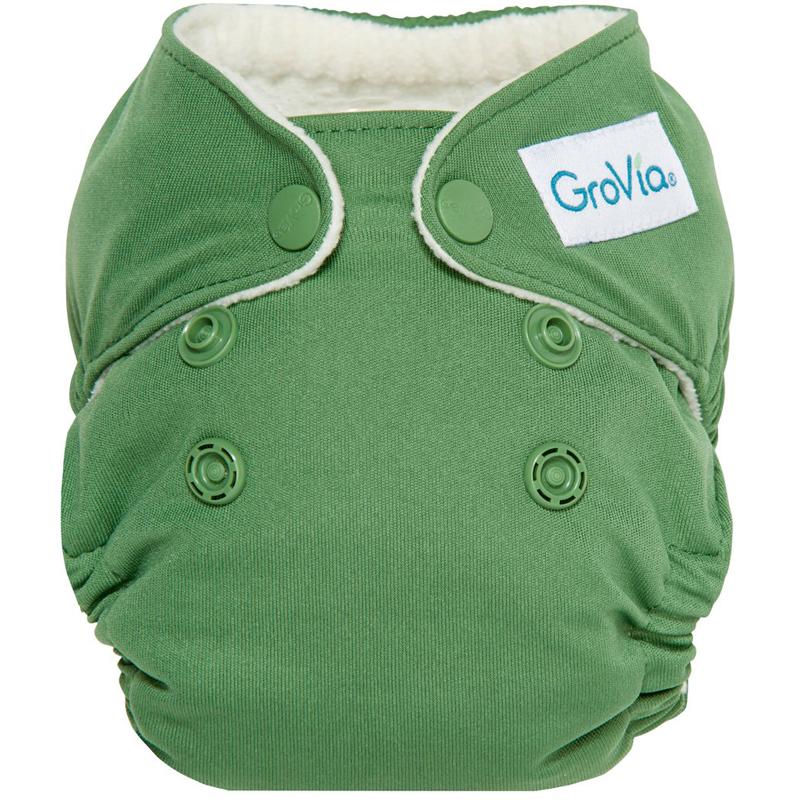 EarthHero - Classic Newborn Cloth Diaper - Basil