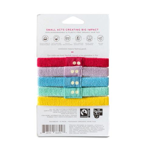 EarthHero - Multicolor Organic Hair Ties 2