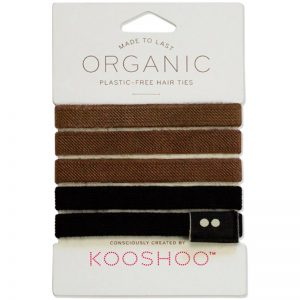 EarthHero - Brown + Black Organic Hair Ties 1