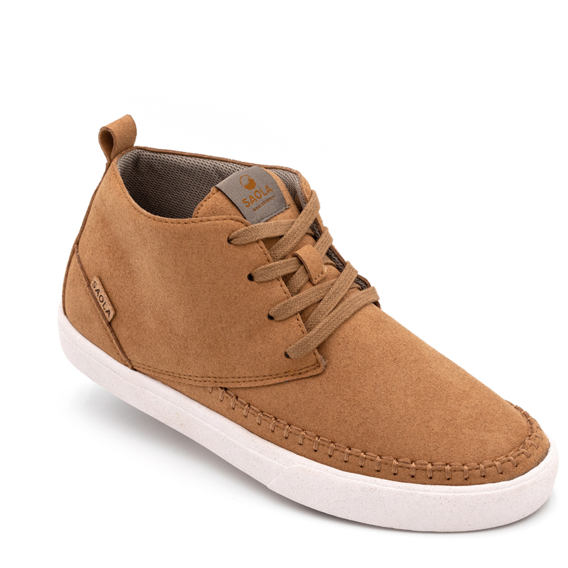 EarthHero - Women's Atakama Mid-Top Sneakers Vegan Shoes - Cashew