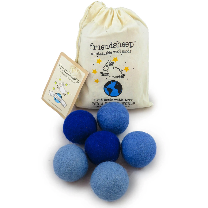 EarthHero - Blue Eco Wool Pet Toy Ball (6 Pack) - 1