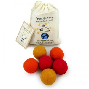 EarthHero - Orange Eco Wool Pet Toy Ball (6 Pack) - 1