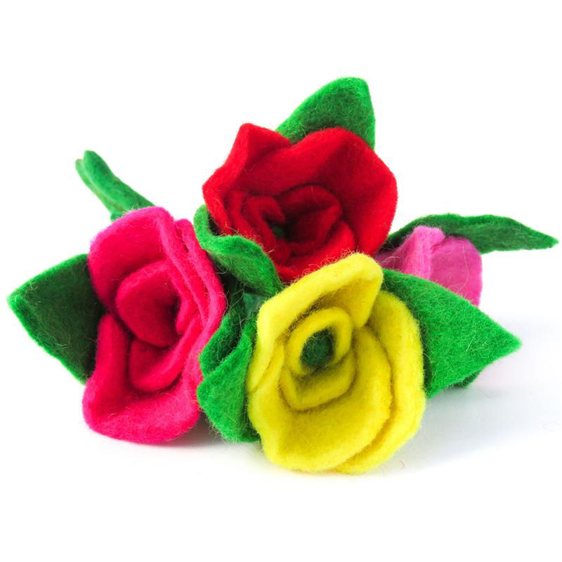 EarthHero - Hand Felted Rose Eco Fabric Freshener - 1
