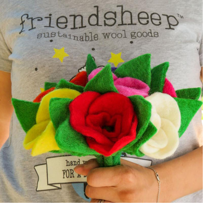 EarthHero - Hand Felted Rose Eco Fabric Freshener - 2