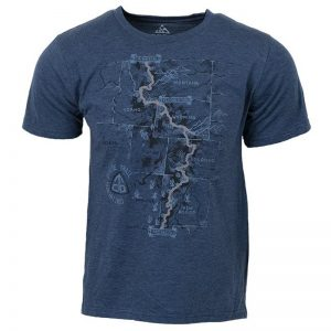 EarthHero - CDT Trail Map Men's Graphic T-Shirt - 1