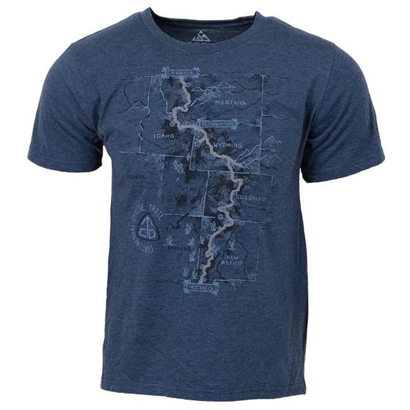 EarthHero - CDT Trail Map Men's Graphic T-Shirt - 1