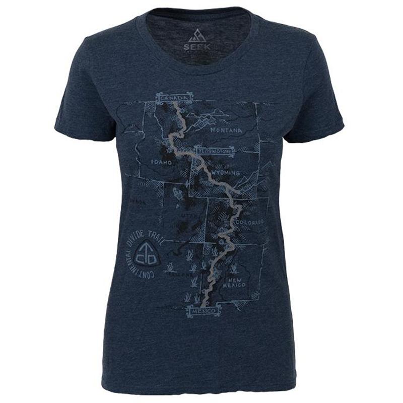 EarthHero - CDT Trail Map Women's Graphic T-Shirt - 1