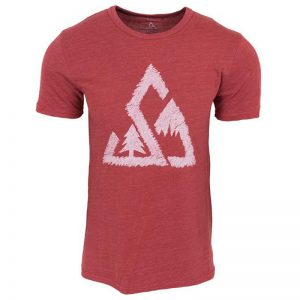 EarthHero - Chalked Up Men's Graphic T-Shirt - True Red