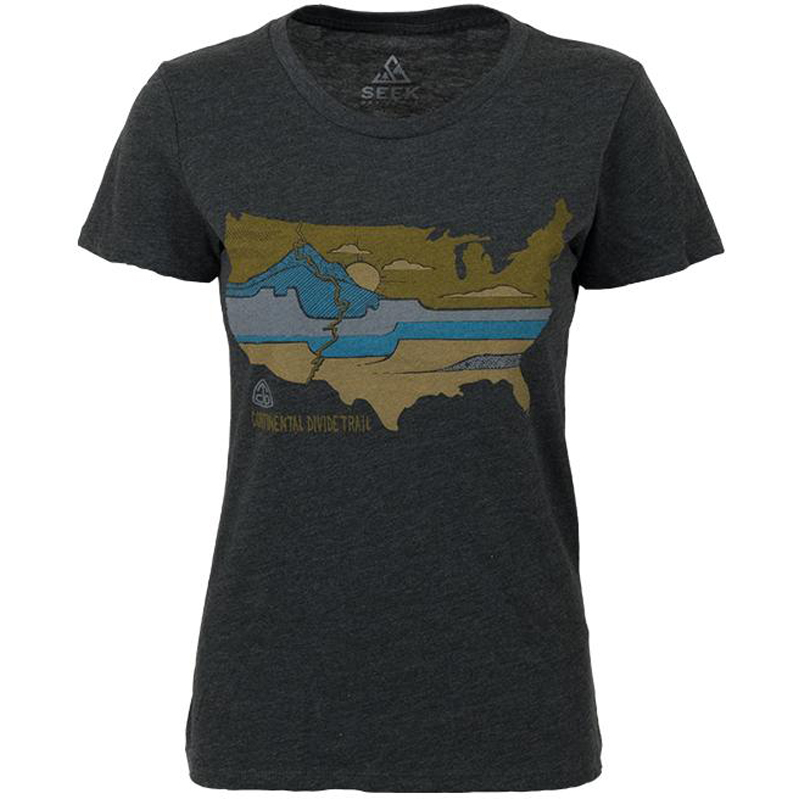 EarthHero - Divided Landscapes Women's Graphic T-Shirt - Heather Coal