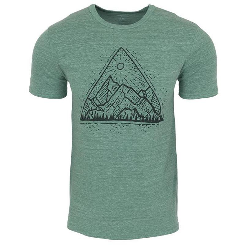 EarthHero - Mountain View Men's Graphic T-Shirt - Kelly Green