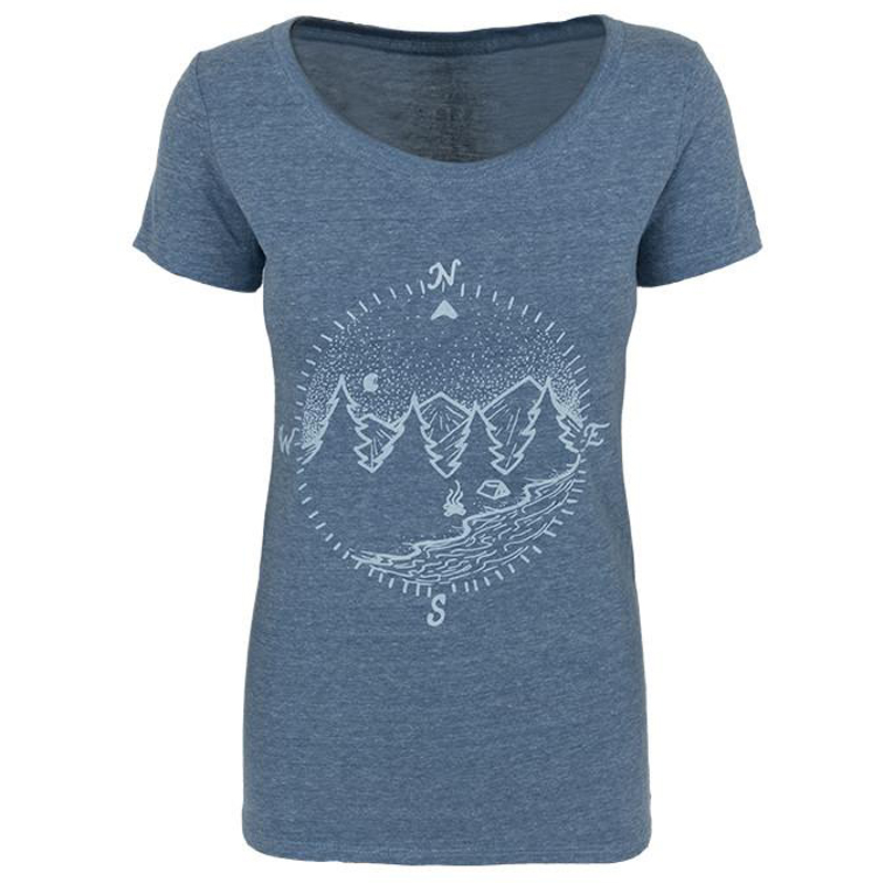 EarthHero - True North Women's Graphic T-Shirt - Royal