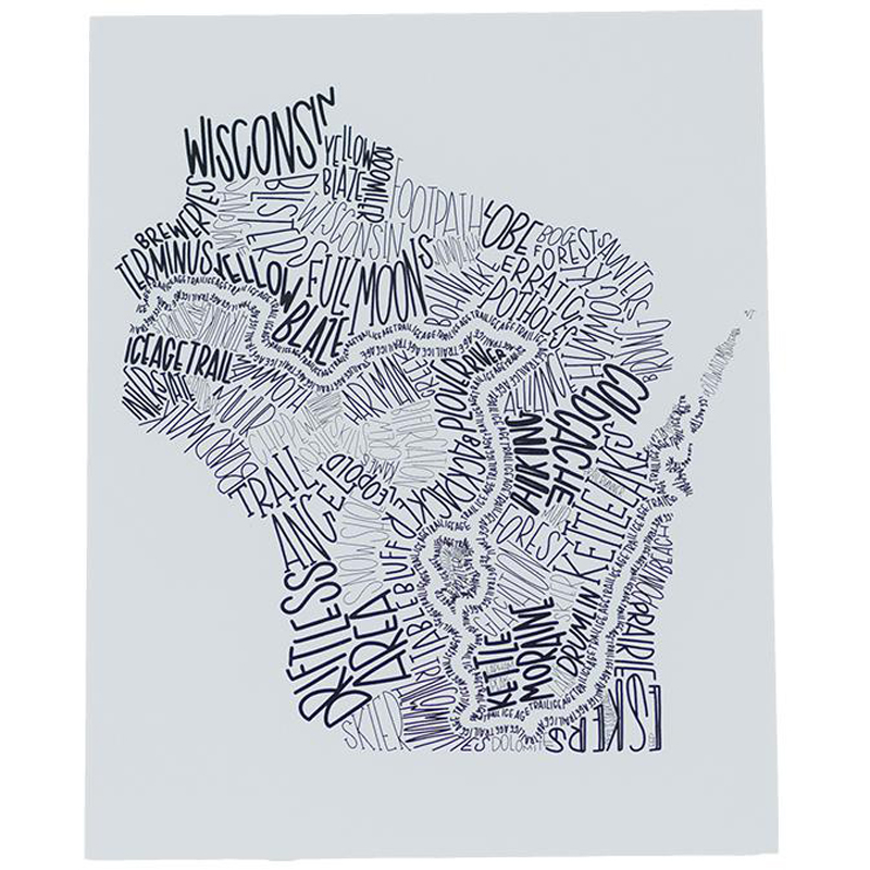 EarthHero - Word Art Recycled Paper Poster - 1