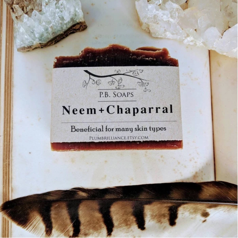 EarthHero - Neem + Chaparral Natural Soap Bar - 3