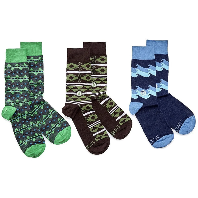 EarthHero - Ethical Socks that Protect the Planet Gift Box 3 Pack - 3