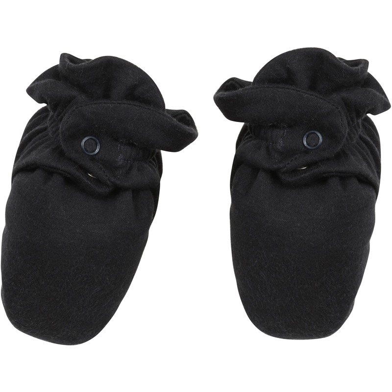 EarthHero - Organic Cotton Snap Baby Booties - Black