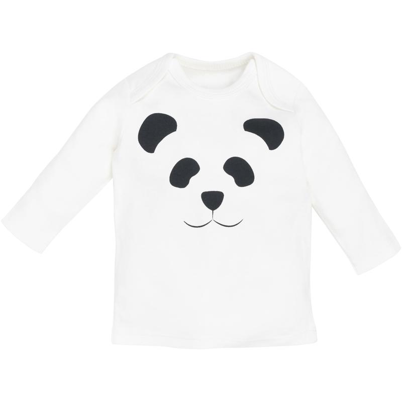 EarthHero - Panda Print Longsleeve Baby Clothes - 1