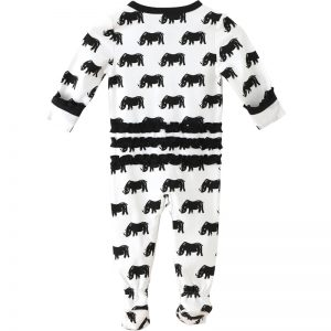 EarthHero - Save the Rhino Ruffle Zipper Onesie for Baby - 1