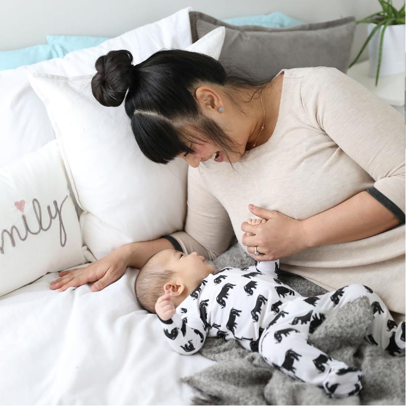 EarthHero - Save the Rhino Zipper Onesie for Baby - 4