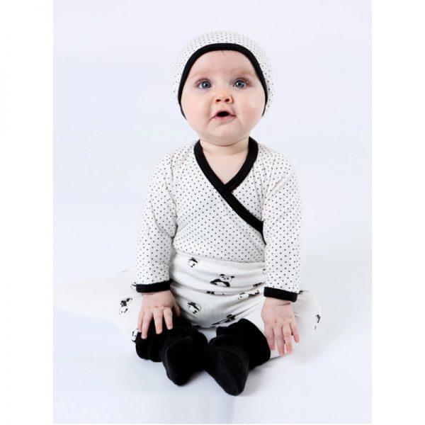EarthHero - Organic Cotton Polka Dot Baby Beanie - 12