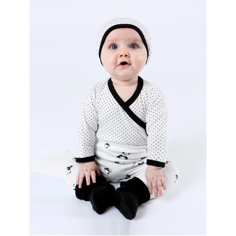 EarthHero - Organic Cotton Polka Dot Baby Beanie - 12
