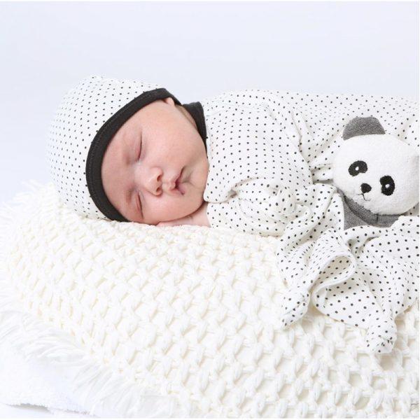 EarthHero - Organic Cotton Polka Dot Baby Beanie - 3