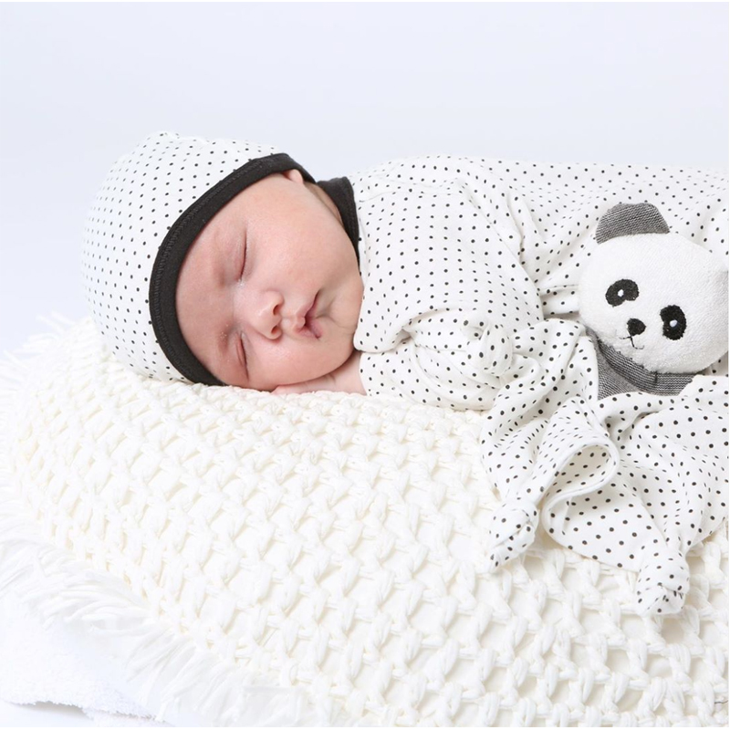 EarthHero - Organic Cotton Polka Dot Baby Beanie - 3