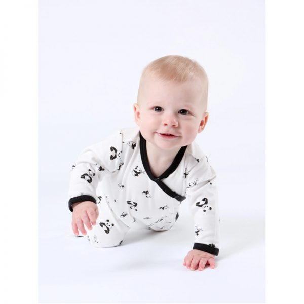 EarthHero - Organic Cotton Side Snap Baby Footie Onesie - 3