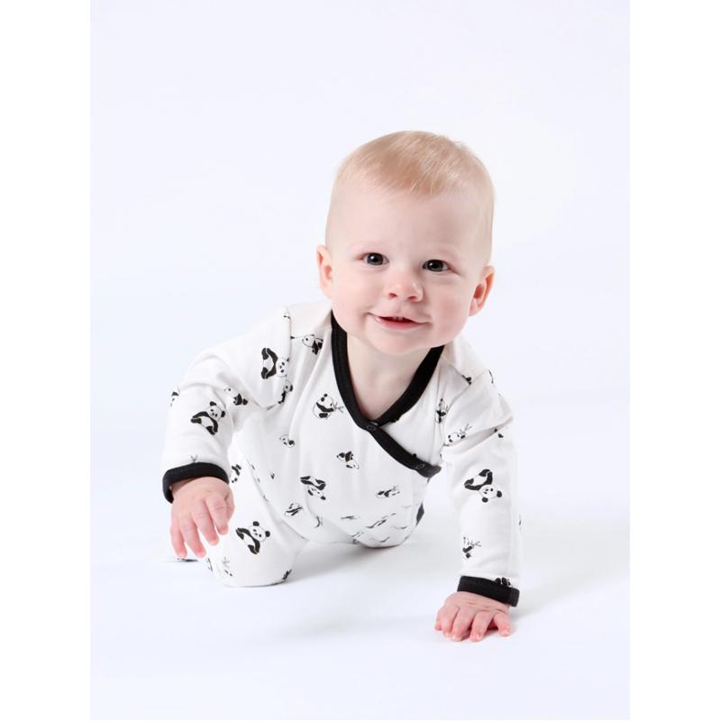 EarthHero - Organic Cotton Side Snap Baby Footie Onesie - 3