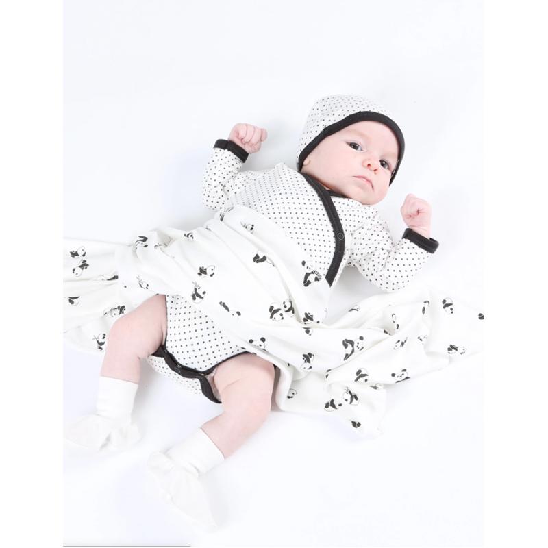 EarthHero - Panda Print Organic Cotton Swaddle Blanket - 12