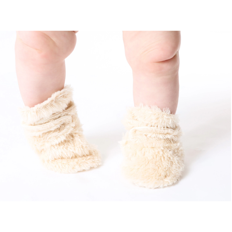 EarthHero - Shaggy Sherpa Snap Baby Booties - 3