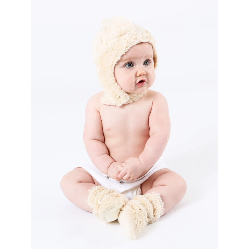 EarthHero - Shaggy Sherpa Snap Baby Booties - 4